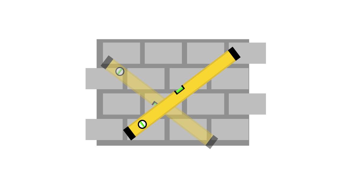 Прикладывать уровень надо в разных направлениях, чтобы понять, где находится самая выступающая точка стены