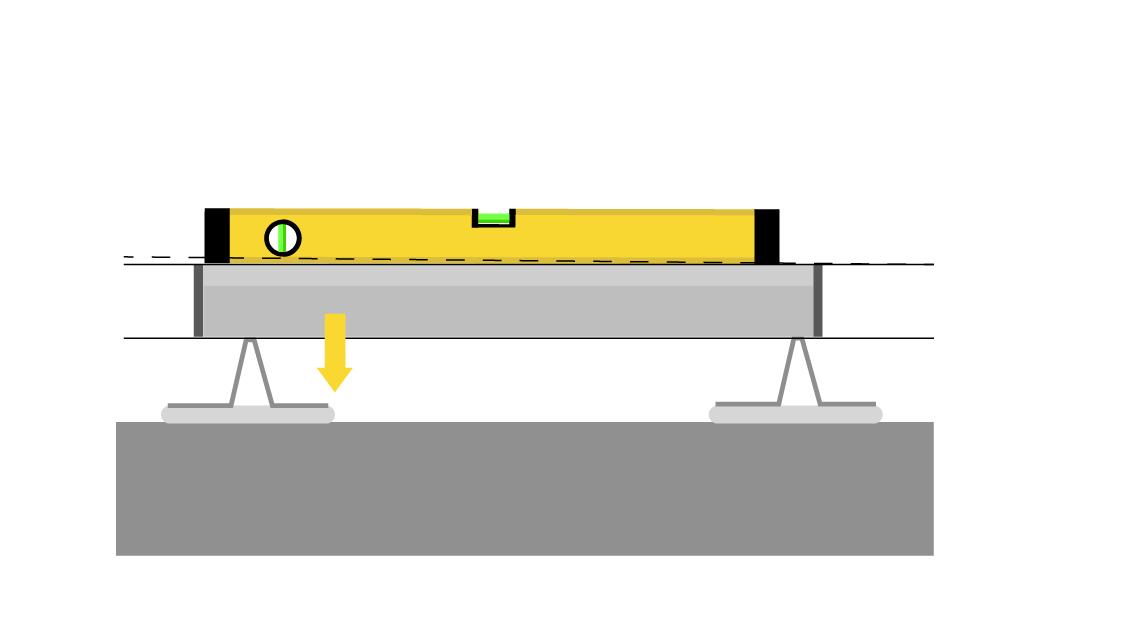 Выравнивание двух маяков (вид сверху)