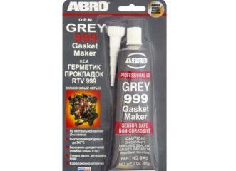 Герметик силиконовый серый ABRO 9AB-R