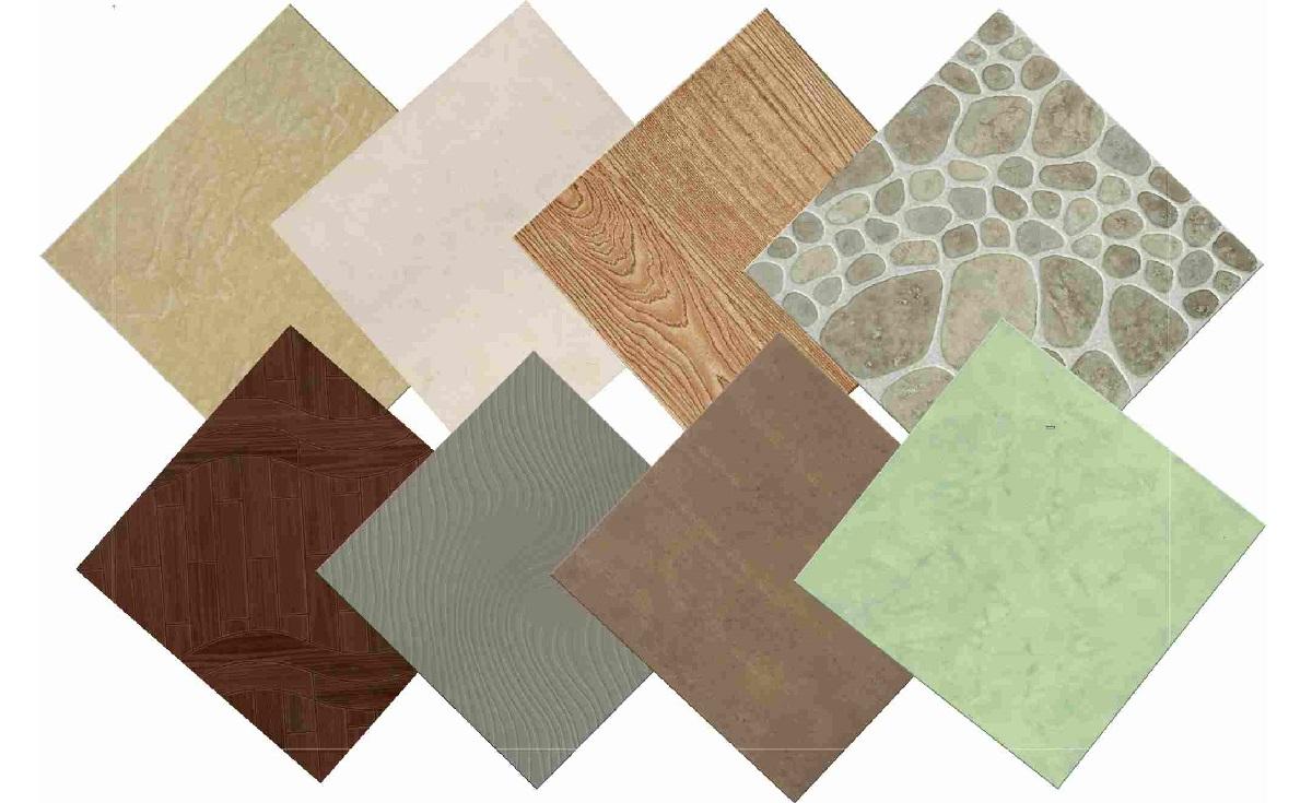 Напольная облицовка может имитировать поверхность различных натуральных материалов, даже древесины