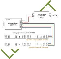 подключение светодиодной ленты к контроллеру и блоку питания