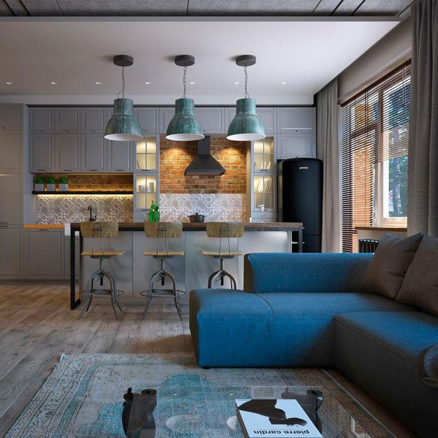 объединить кухню и гостиную