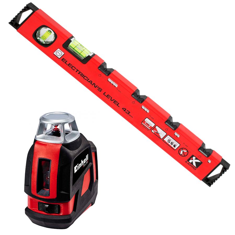 строительный уровень или лазерный нивелир для нанесения разметки