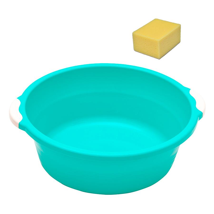 емкость с теплой водой, губки