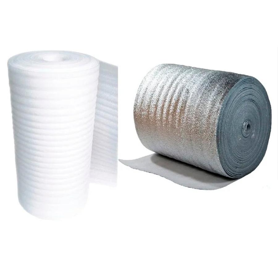 рулонный или листовой пенополиэтилен (фольгированный или без дополнительных слоев)